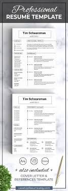 Resume Template Modern Templates Creative Professional Cv Word It One Page Curriculum Vitae