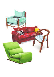 Furniture Sketch Marker Sofa Chair MarkersColour Pencil DrawingColored