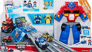 100 Rescue Bots Fire Truck Transformers Playskool Heroes Transformers Flip Races