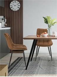 2er set retro polsterstuhl braun esszimmer besucher küche