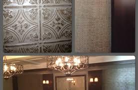 decorative drop ceiling tiles pvc grid suspended lowes styrofoam