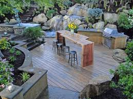 Stone Patio Bar Ideas Pics by Outdoor Kitchen Countertops Pictures Tips U0026 Expert Ideas Hgtv