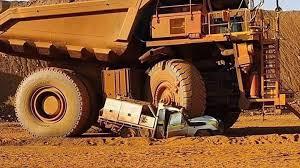 100 Haul Truck Australian Man Accidentally Crushes Own Toyota Land Cruiser