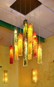 Galilee Lighting Exotic Candles Custom Chandelier Tropical Dining Room Sun Pendant