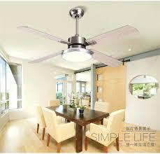 Buy Fan Light Wooden Stainless Steel Leaves Modern Minimalist Dining Room Living Ceiling Lights Led From