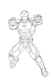 Captain America Coloring Pages Marvel Iron Man Shield Free
