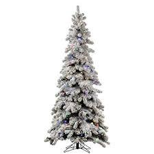 Vickerman Flocked Kodiak Pre Lit Christmas Tree