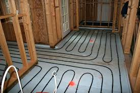 diy radiant floor heating heated tile floor pros and cons radiant