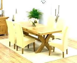 Dining Room Sets 4 Chairs Solid Oak Extending Table And Cheap Ebay