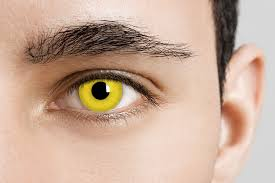 Prescription Halloween Contacts Astigmatism by Yellow Zombie Contacts Yellow Halloween Contacts