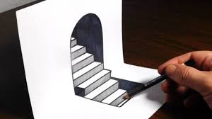 How To Make 3D Sketch Step By Draw Steps On Paper