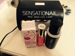 Sensationail Pro 3060 Led Lamp by Essence Gel Nails At Home U2013 2 In 1 Base U0026 Top Coat Clear Peel Off