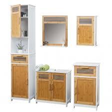 badmöbel hwc a85 badezimmer badschrank badset bambus weiß