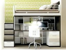 bureau superposé lit superpose avec rangement lit en hauteur avec bureau lit