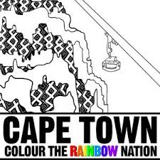 Cape Town Cable Car Rides Colouring Pages