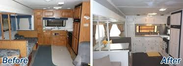 Before And After Rv Camper Interior Remodeling Ftd