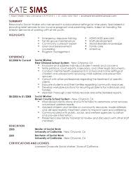 Licensed Social Work Resume Examples And Curriculum Vitae Example Best Worker