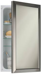 Brushed Nickel Medicine Cabinet With Mirror by Amazon Com Broan Nutone 625n244snc Hampton Recessed And Framed
