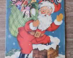 Santa Claus Vintage Christmas Book Coloring Pages