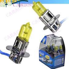 yellow 3k 100w h3 xenon car fog headlight halogen light gas