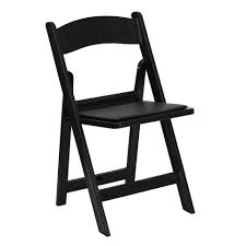 100 Event Folding Chair Black Wedding W Padded Seat Grand Rentals