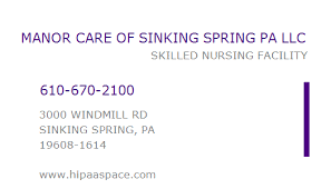 1689621484 npi number manor care of sinking spring pa llc