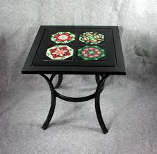 metal accent table side table coffee table patio table with