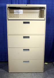 hon brigade 600 series 5 drawer lateral file cabinet putty color