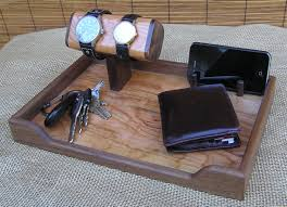 Mens Dresser Valet With Charger mens valet watch stand watch display by onondagahillwoodwork