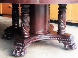 C1900 Classical Empire Banquet Dining Table Carved Solid Mahogany 60dia 11