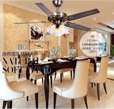 48 Inch Iron Leaf Lights Fan Living Room Dining Ceiling Light Rustic Lamp Decorative