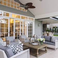Relaxed Tropical Queensland Hamptons Style Home Deck Furniture
