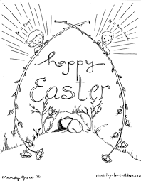 Download Coloring Pages Easter Religious