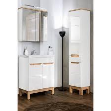 badmöbel set mit 60cm waschtisch spiegelschrank und