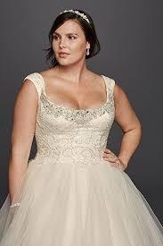 Tulle Plus Size Oleg Cassini f the Shoulder Lace Wedding Dress