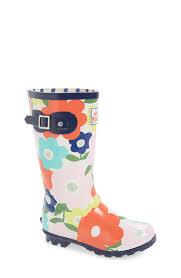 mini boden flower print rain boot toddler little kid u0026 big kid