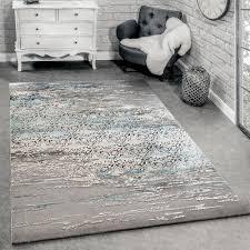 designer teppich meliert grau blau