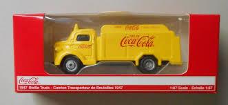 100 Coke Truck YELLOW 1947 COCACOLA COKE BOTTLE TRUCK 187 Diecast HO Scale