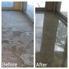 Terrazzo Floor Restoration Orlando by Before And After Portfolio Marble Granite Cleaning