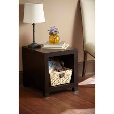 tall side table espresso walmart com
