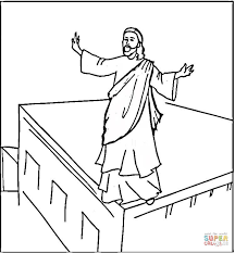 Click The Jesus Pray Coloring Pages