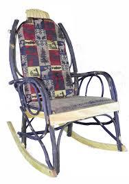 Amish Bentwood Rocker Cushion Set - Red Cabin Fabric ...