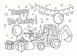 Birthday Card Coloring Page Happy For Boys Kids Holiday To Download