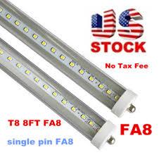 stock in us 8 led 8ft single pin t8 fa8 single pin led