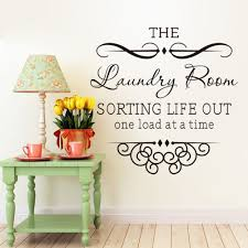 Wall Sticker Quotes Bathroom Laundry Room Decoration Home Decor Bedroom Decals Art DIY Mural Wallpaper In Stickers From Garden