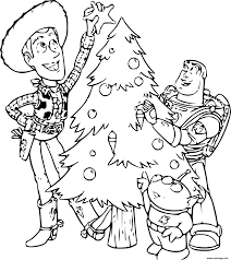 Coloriage Toy Story Noel JeColoriecom