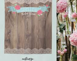 Rustic Wood Background Photo Booth Backdrop Bridal Shower Bride