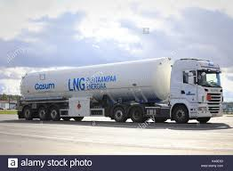 FORSSA, FINLAND - SEPTEMBER 1, 2017: Scania Semi Tank Truck Of Gasum ... Semi Trucks Natural Gas Electric Heavyduty Available Models Fuel Efficient Heavy Travels Lng Eesti Gaas Compressed Natural Gas Trucks In The General Mills Fleet A Taste Our Nations Soon To Be Running On Liquefied Hidrolik Pgendalian Transportasi Trailer Untuk Alam Cair Best Truck Manufacturer Battle Freightliner Vs Kenworth Volvo Ups Ordering 400 Cng From Medium Alternative Fuels Data Center How Do Vehicles Work Basics 101 What Contractors Need Know About And