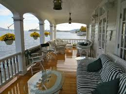 Front porch overlooking Lake George Picture of Boathouse Bed and