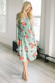 mint pink floral pocket modest dress modest dress for nursing